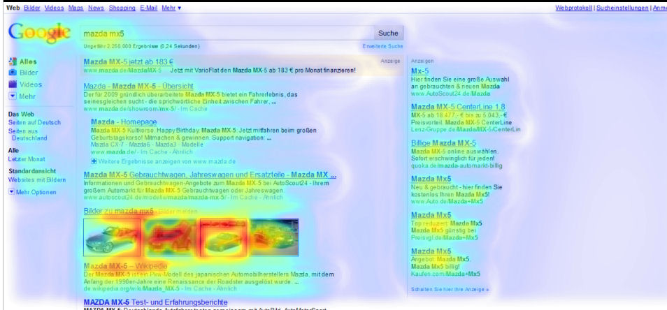 eyetracking studie google universal search blended search relaunch google