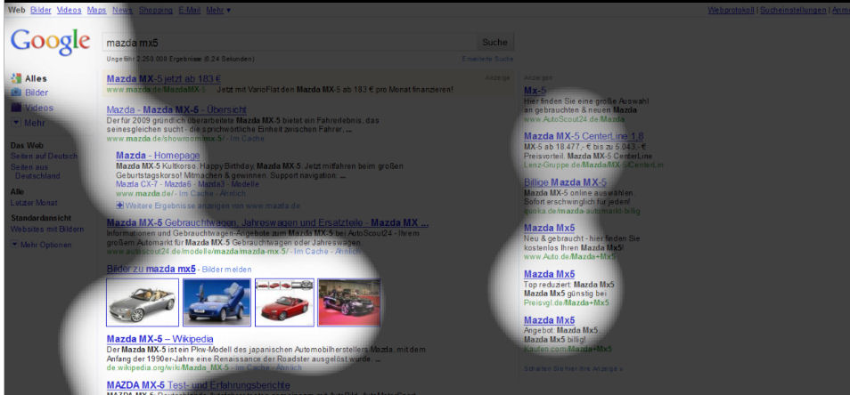 eyetrackingstudie google universal search relaunch google